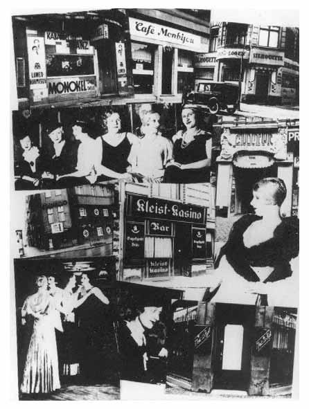 Κολάζ για το κλείσιμο των gay και λεσβιακών bar στο Βερολίνο από τη βιεννέζικη εφημερίδα Der Notschrei (Η Κραυγή για Βοήθεια), 4 Μαρτίου 1933.