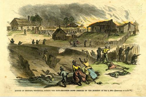A depiction of the Memphis Riots.