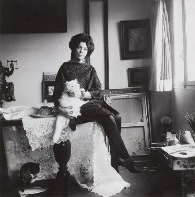Leonor Fini in her studio rue de La Vrillière, Paris, 1961, photography by Cecil Beaton