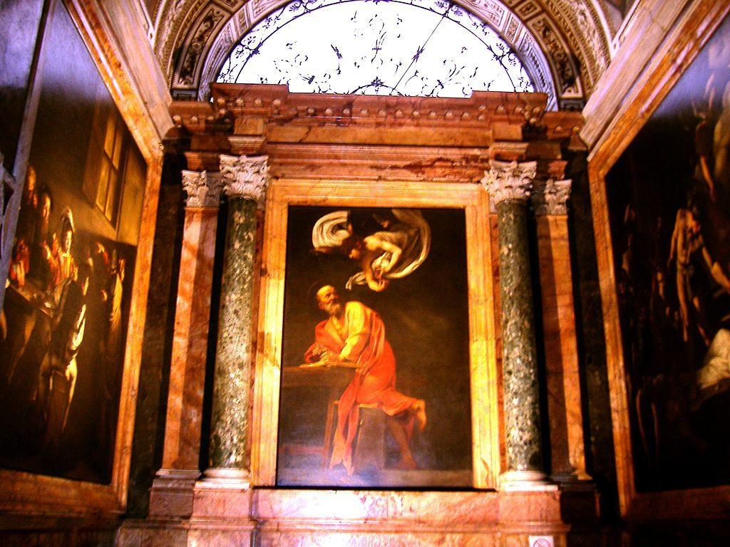 Η έμπνευση του Αγίου Ματθαίου, Cappella Contarelli, San Luigi dei Francesi, Ρώμη
