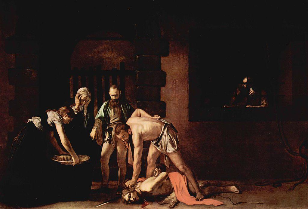 Ο αποκεφαλισμός του Αγίου Ιωάννη του Βαπτιστή, 321x520 εκ., 1608, Καθεδρικός Ναός Αγίου Ιωάννη, Βαλέτα, Μάλτα