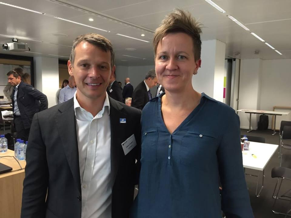 Η Ulrika Westerlund, μέλος του Διοικητικού Συμβουλίου της TGEU, στην σύσκεψη που έγινε στις Βρυξέλλες από το Γραφείο της Ύπατης Αρμοστείας των Ηνωμένων Εθνών για τα Ανθρώπινα Δικαιώματα.