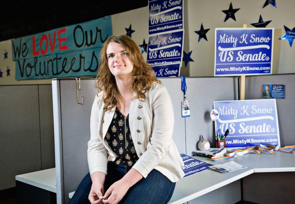 Γνωρίστε την τρανς γυναίκα που κατεβαίνει ως υποψήφια για μια θέση στη Γερουσία σε μια Πολιτεία Μορμόνων