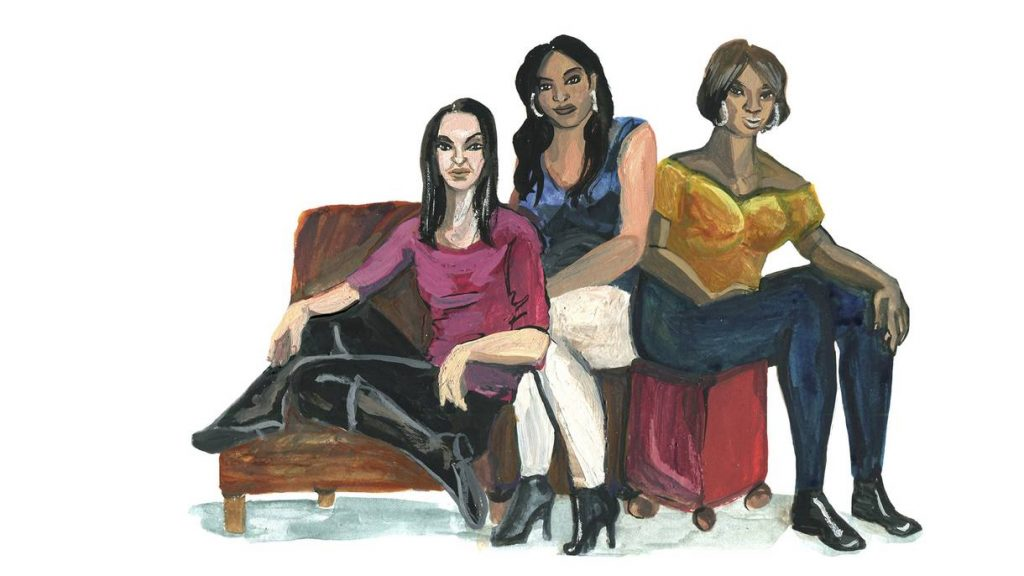 Mercedes Williamson (left), Tamara Dominguez (Center), Keisha Jenkins (right), Illustration by Jessica Olah