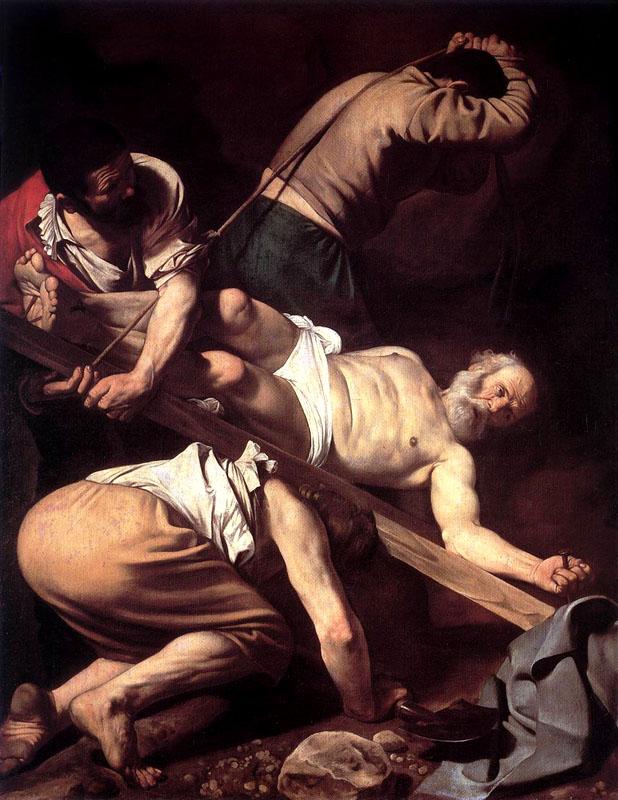 Η Σταύρωση του Αγίου Πέτρου, 230x175 εκ., 1601, Σάντα Μαρία ντελ Πόπολο, Ρώμη