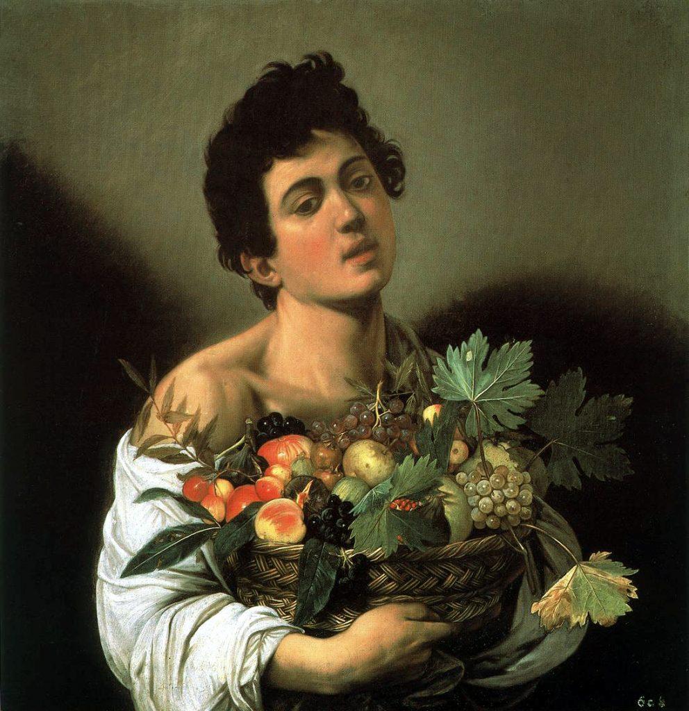 Αγόρι με καλάθι φρούτων, περ. 1593-1594, 70x67 εκ., Πινακοθήκη Μποργκέζε, Ρώμη