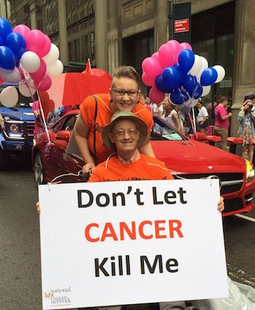Jay Kallio in this year's LGBT Pride March, as he suffered from the cancer to which he succumbed on September 30. | FACEBOOK.COM